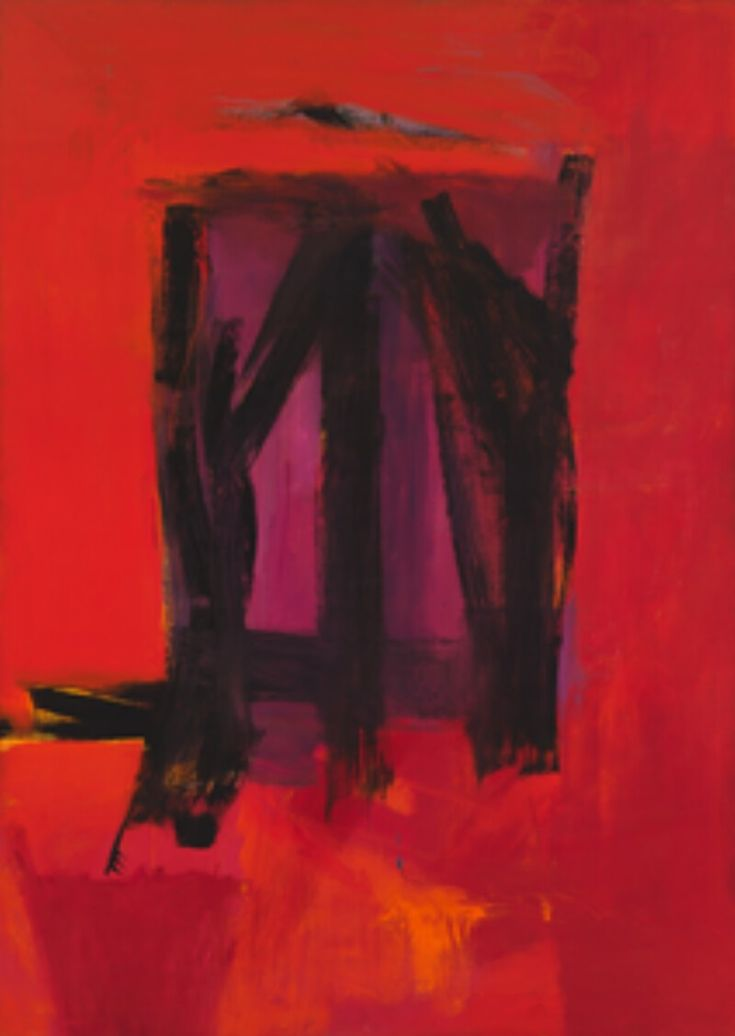 Franz Kline / Red Painting / oil on canvas / 1961
