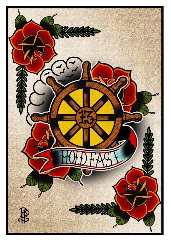 Customizable Sailor Ship Wheel Print By thebrokenpuppet