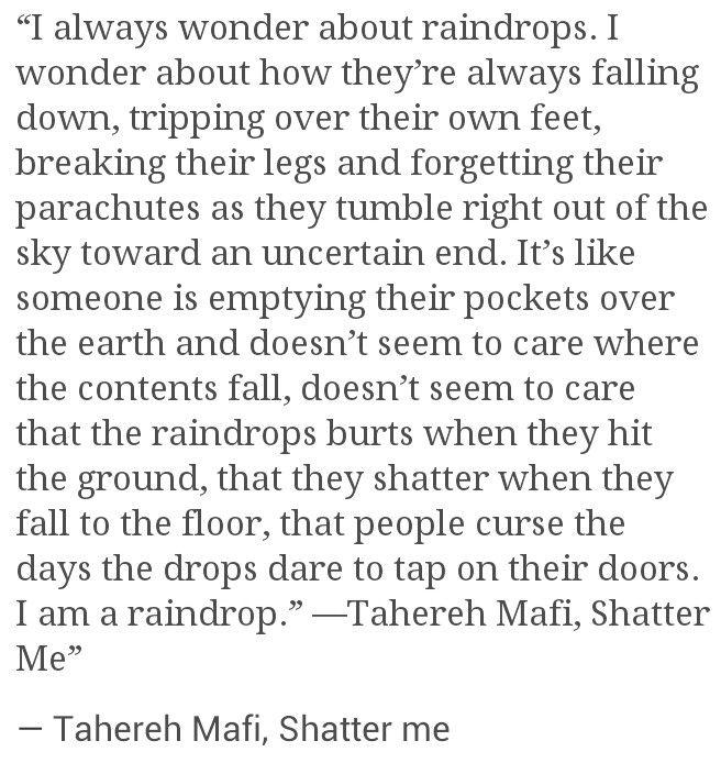 Tahereh Mafi, Shatter me