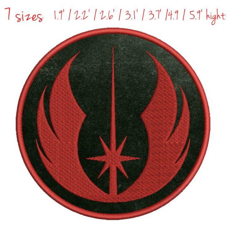 Star Wars Jedi Logo Embroidery Symbol Applique machine pattern digital download by GretaembroideryShop on Etsy