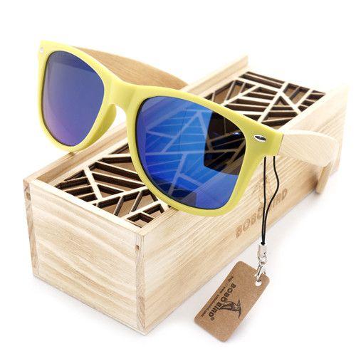 Ladies Sunglasses Women 2015 Wooden Sunglasses Bamboo Brand Sunglasses Wood Case Beach Sunglasses for Driving gafas de sol BS26
