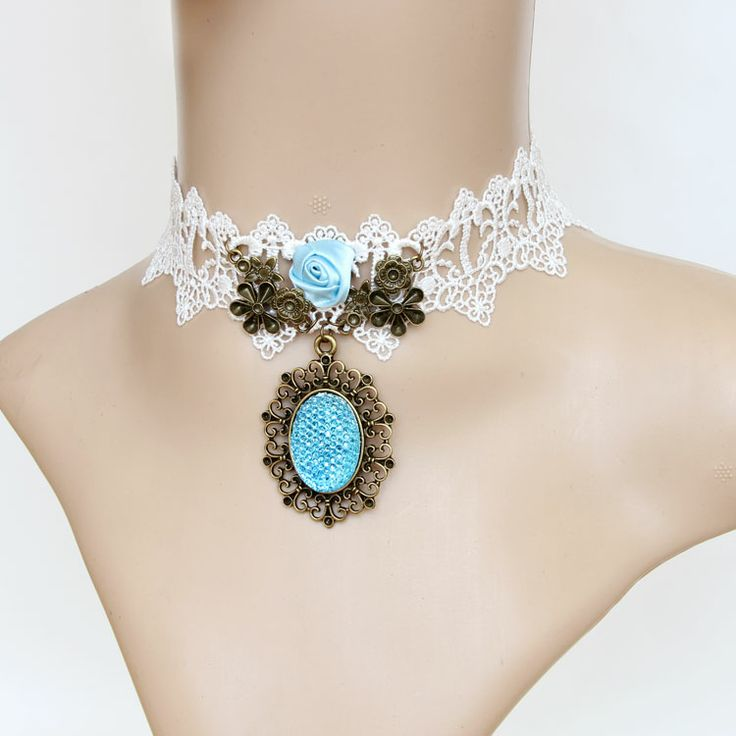 """Collar Necklace White Lace - Mesmerizing & Sophisticated! Get it with """"MY20"""" from your #1 Discount Online Shopping only at: www.e1Necklace.com"""