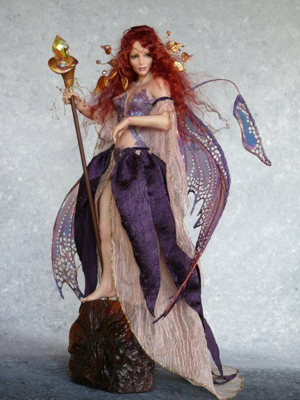 *POLYMER CLAY ~ Art Fairy Dolls by CDHM Artist Deb Wood aka Enchanted Hearts