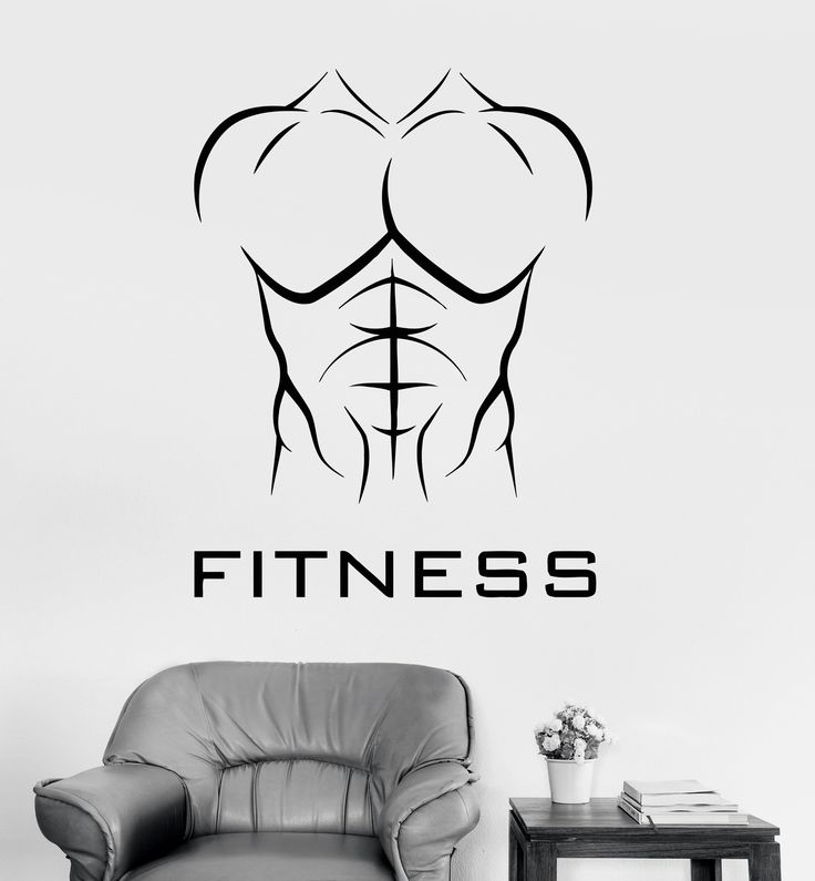 Vinyl Wall Decal Fitness Athletic Body Muscled Bodybuilding Sports Stickers Unique Gift (ig3364)