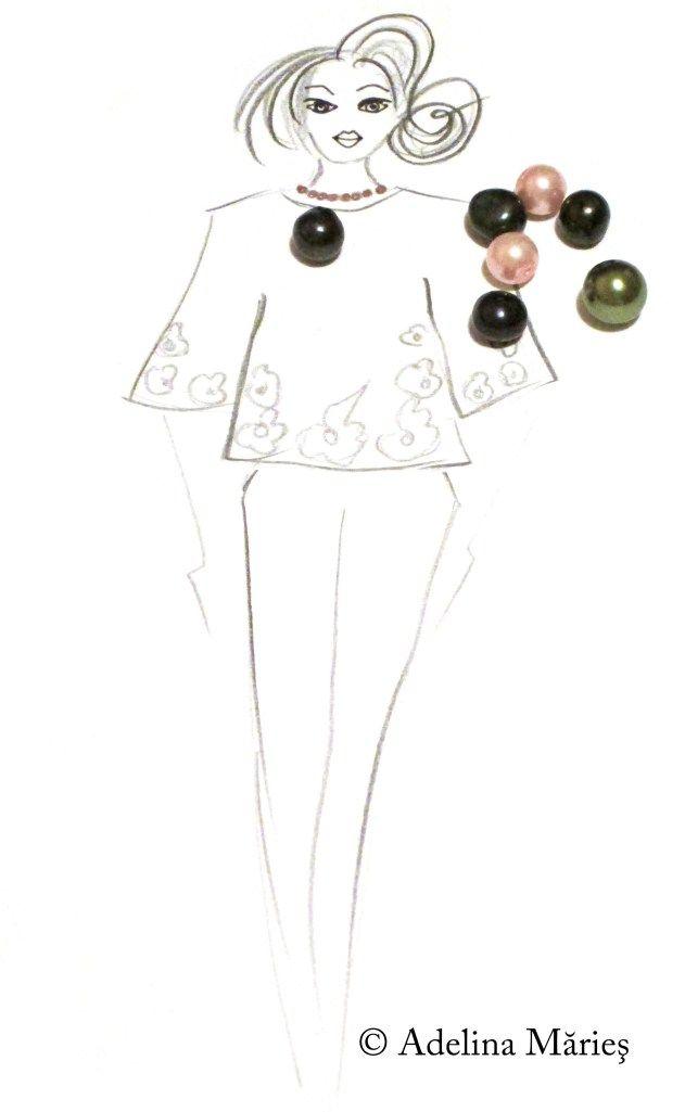 Adelina Maries fashion sketch