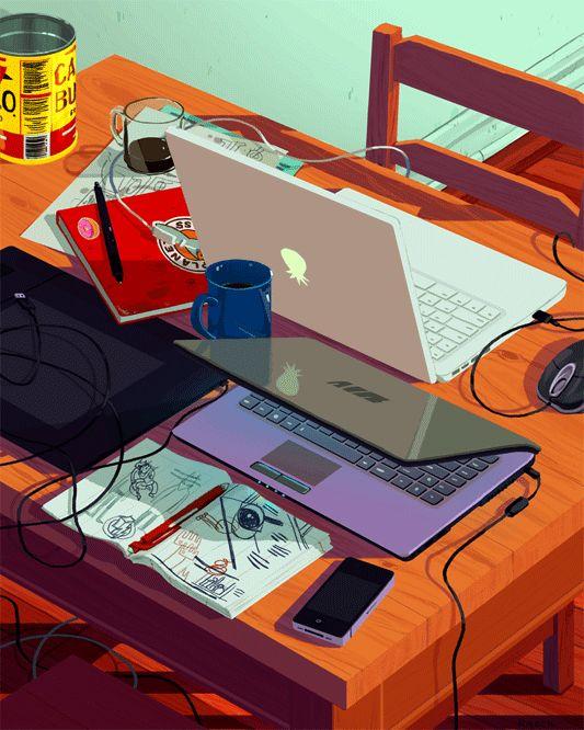 Dans la suite de l'article, découvrez les illustrations animées réalisées par illustratrice new-yorkaise Rebecca Mock
