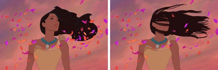 Еслибы удиснеевских принцесс были настоящие волосы