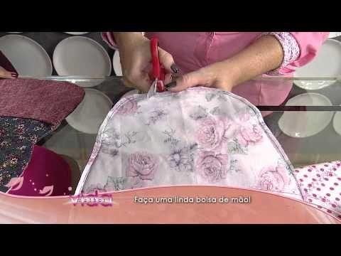 Aprenda como fazer uma linda bolsa de mão