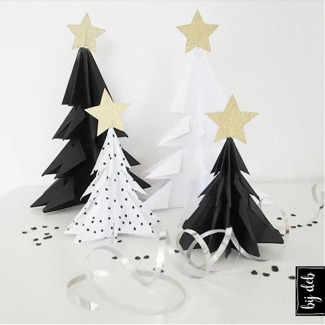 bijdeb: DIY kerstbomen vouwen...
