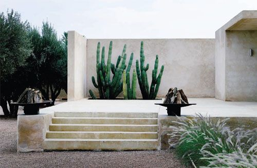 home in Marrakesh designed by Esther Gutmer with architect Helena Marczweski.: Brick House, Cacti, Desert Gardens, Esther Gutmer, Palms Spring, Architecture, Outdoor Spaces, Cactus, Dreams Destinations