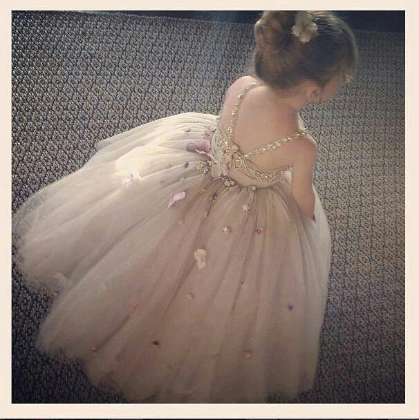 ❀ Fanciful Flower Girls ❀ dresses & hair accessories for the littlest wedding attendant :-)  ivory