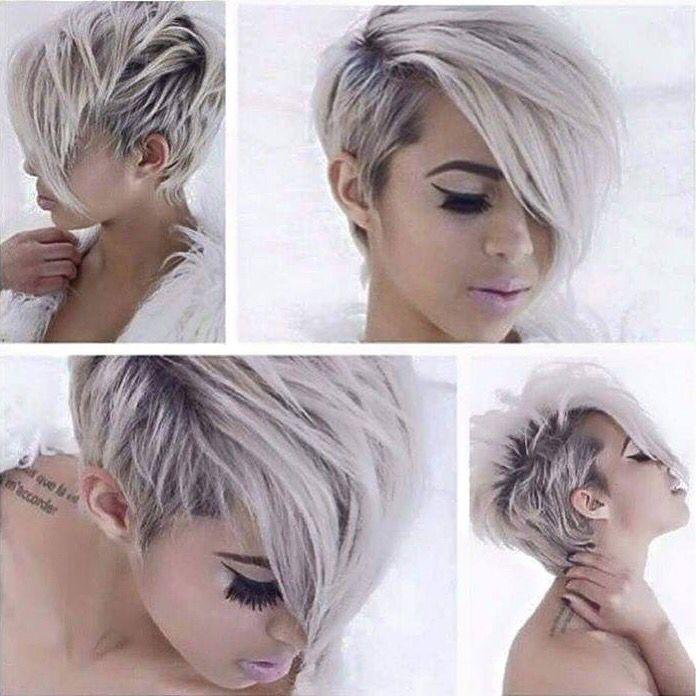 Astonishing 17 Best Ideas About Platinum Pixie On Pinterest Platinum Pixie Hairstyle Inspiration Daily Dogsangcom