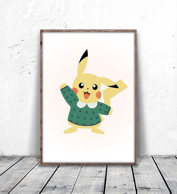 pikachu, Pokemon Gifts, Pokemon Go, Pokemon Go Gifts, Pokemon Print, Pikachu Print, Pikachu Gift, Pokemon Card, Printable, Wall Art, Poster, digital print