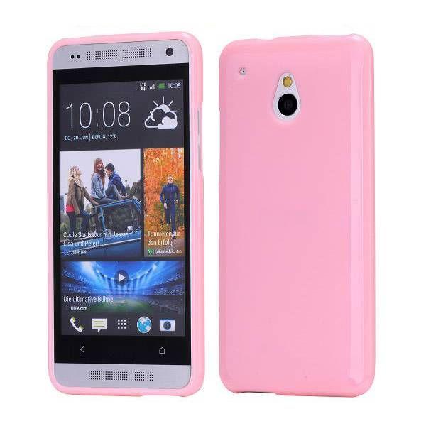 Roze TPU hoesje voor de HTC One mini