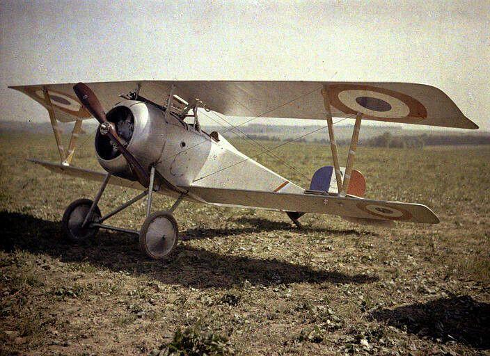 Nieuport 23 C.1 - Historia de la fotografía - Placa autocroma Lumière, hacia…