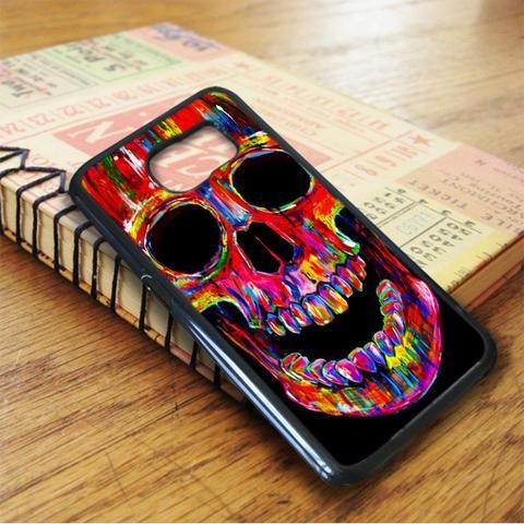 Head Skull Water Colors Samsung Galaxy S6 Case