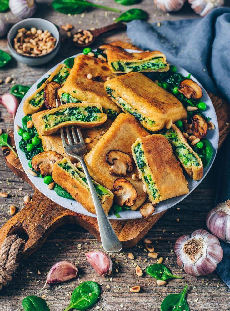 Knusprig geröstete Vegan Ravioli Pockets (deutsche Maultaschen) gefüllt mit …   – Vegan Recipes