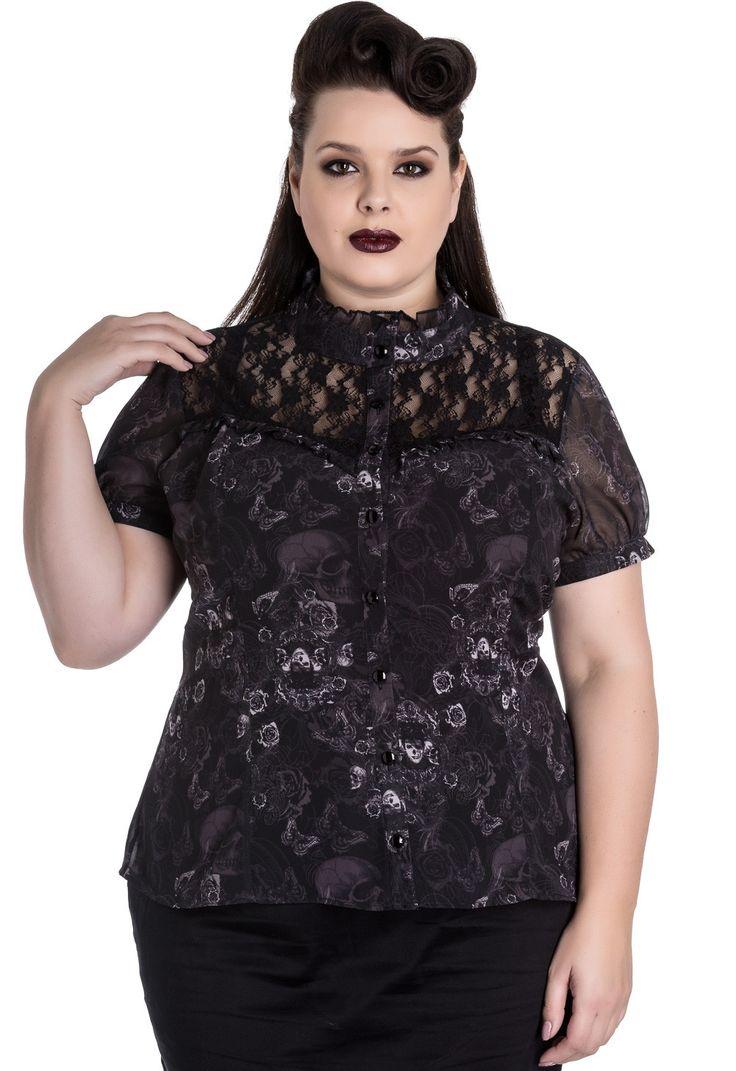 Blusa Scullion de Spin Doctor en Talla Grande  #moda #goth #alternativo #calaveras #ropa