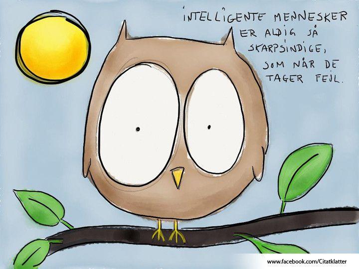 Intelligente mennesker er aldrig så skarpsindige, som når...