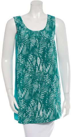 MM6 by Maison Martin Margiela Printed Sleeveless Tunic