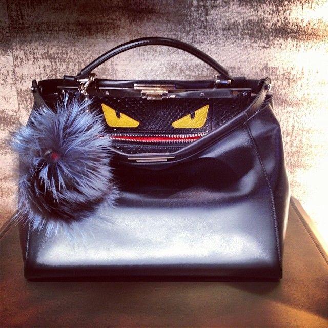 Fendi Mini Peekaboo Monster Bag
