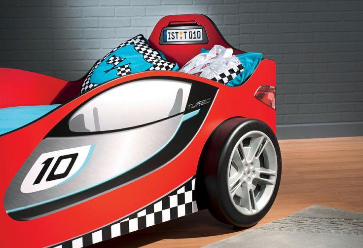 Detalle del coche cama Racer