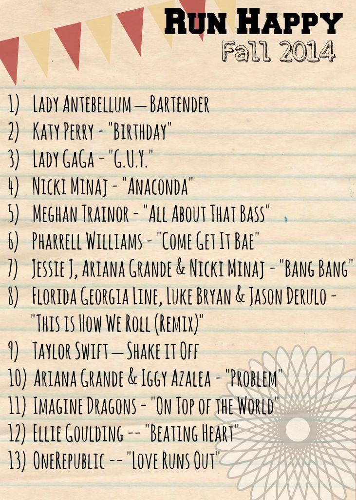 Fall 2014 Run Happy Playlist