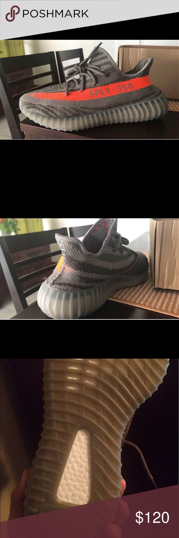 Adidas Yeezy boost V2 beluga orange and grey new Size 10 2017 yeezy boost with box took out to wear once around my house that's it and to take pictures. Have box in perfect condition! I'm located in the USA , Mississippi to be exact so shipping will be quick! Price may be negotiable! Let me know if you have anymore questions I'll be happy to answer ! adidas Shoes Sneakers