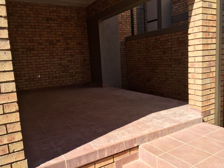 This is a picture of my patio just before development was completed