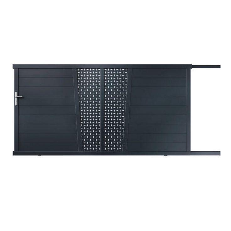 1000 id es sur le th me portail aluminium coulissant sur for Portail coulissante exterieur