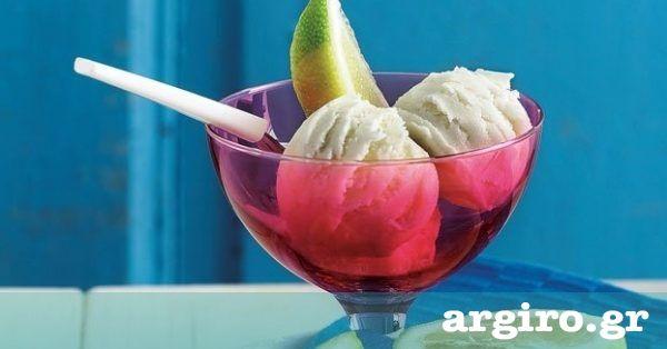 Δροσερό και μυρωδάτο παγωτό, ιδανικό για να το σερβίρετε μετά από κάθε γεύμα. Χωνευτικό και με μακριά επίγευση λεμονιού.