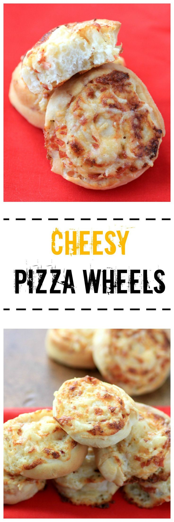 Cheesy Pizza Wheels Recipe by Noshing With The Nolands - pizza for one, in bite sized fun! Great for an after school snack, too. #BreadBakers