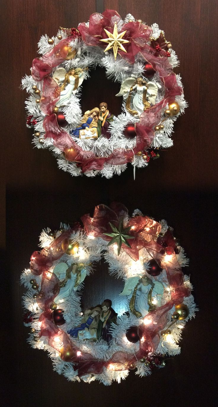 22 Thomas Kinkade Christmas Wreath Christmas Decoration 2018