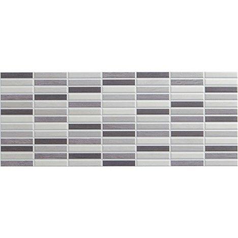 Carrelage mural d cor cottage artens en fa ence gris 20 x 50 cm fa ences carrelages - Carrelage gris mur taupe ...