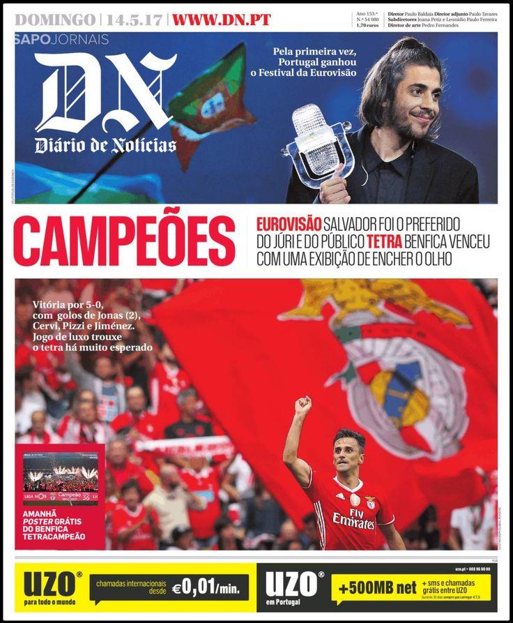 Pin de Jota Ene em BENFICA covers Capas de jornais