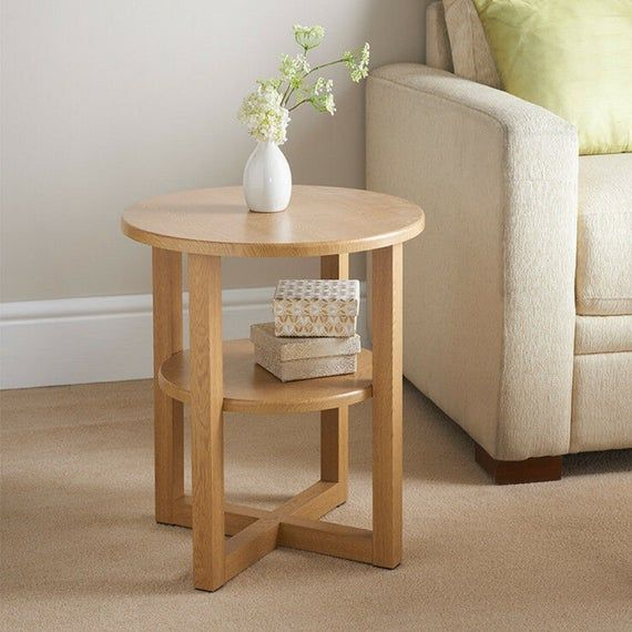 Small Oak Side Coffee Table G 0089 Etsy In 2021 Side Tables Bedroom Living Room Side Table Side Coffee Table End tables for small spaces
