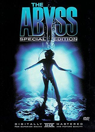The Abyss (1989) PG 13  -  A civilian diving team is enlisted to search for a lost nuclear submarine and face danger while encountering an alien aquatic species.  -    Director: James Cameron  -   Writer: James Cameron  -   Stars: Ed Harris, Mary Elizabeth Mastrantonio, Michael Biehn  -    ADVENTURE / DRAMA / SCI-FI