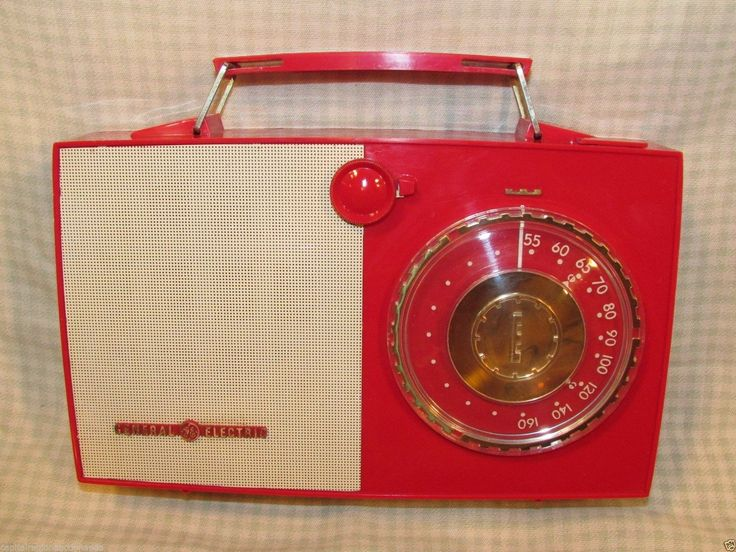 Vtg General Electric Model 626 Tube Type Portable Radio Bright Red EXC Cond | eBay