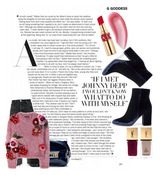 Dolce&Gabbana inspo by roxana97 on Polyvore featuring Dolce&Gabbana, RE/DONE, Gianvito Rossi, Proenza Schouler and Yves Saint Laurent