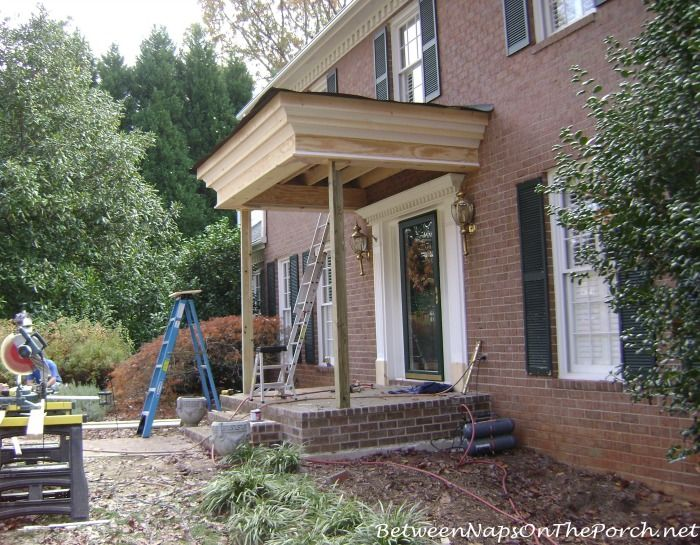 28 best images about porches on pinterest hedges the for Brick house construction cost
