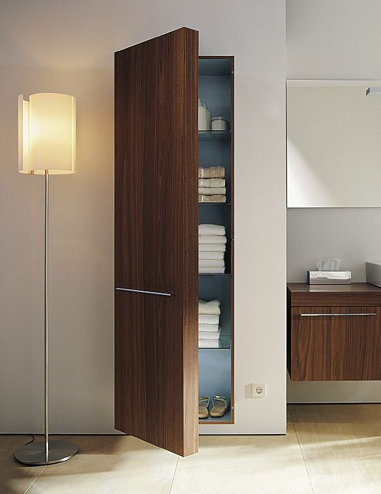 Duravit Fogo American Walnut Finish 250x 500mm Tall Cabinet