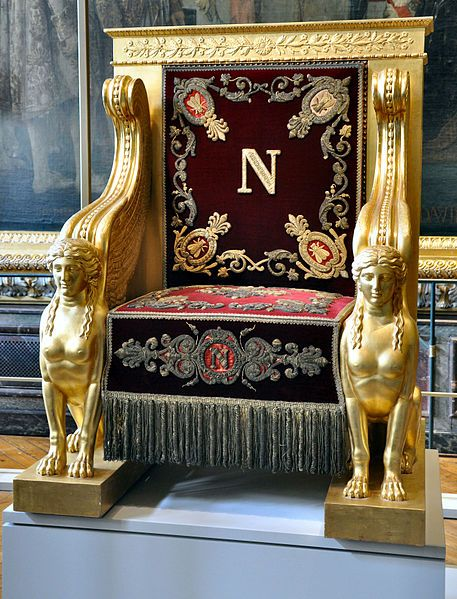 Trône de Napoléon 1er pour le Sénat - Exposition Versailles.