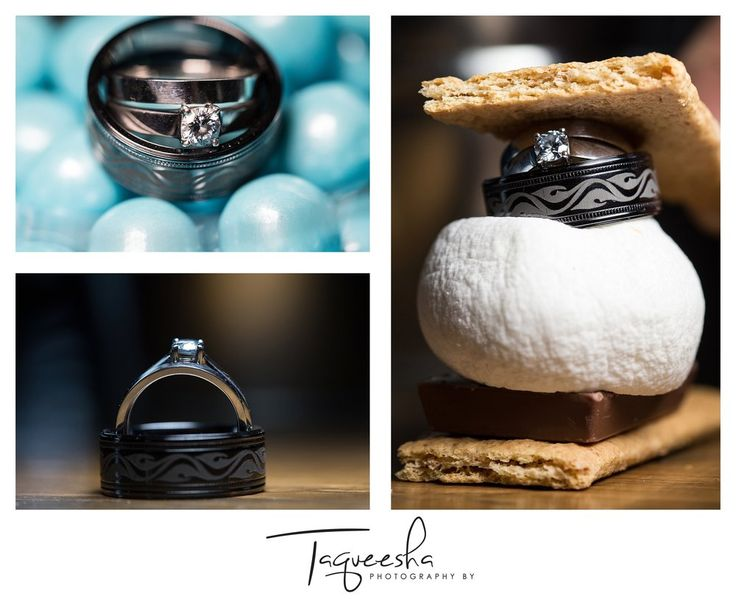 Kamloops wedding photographer, Photography by Taqueesha.   Ring detail photos, smore ring photo.  www.taqueesha.com