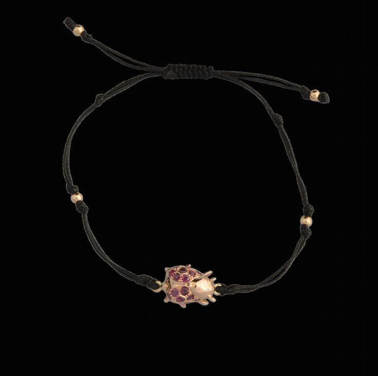 #rosegold #ladybug #rubies #bracelet