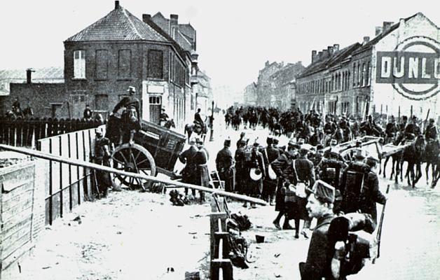 Belgische leger trekt zich terug na de val van Awerpen