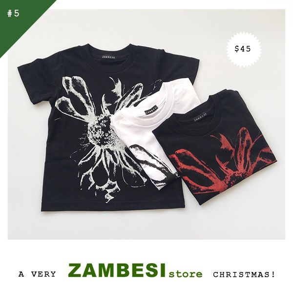 "#5 selected by Zoe Walker! ""Zambesi kids t-shirts for my nephews!"" ZAMBESI sunflower kids tees are now available in all stores x"