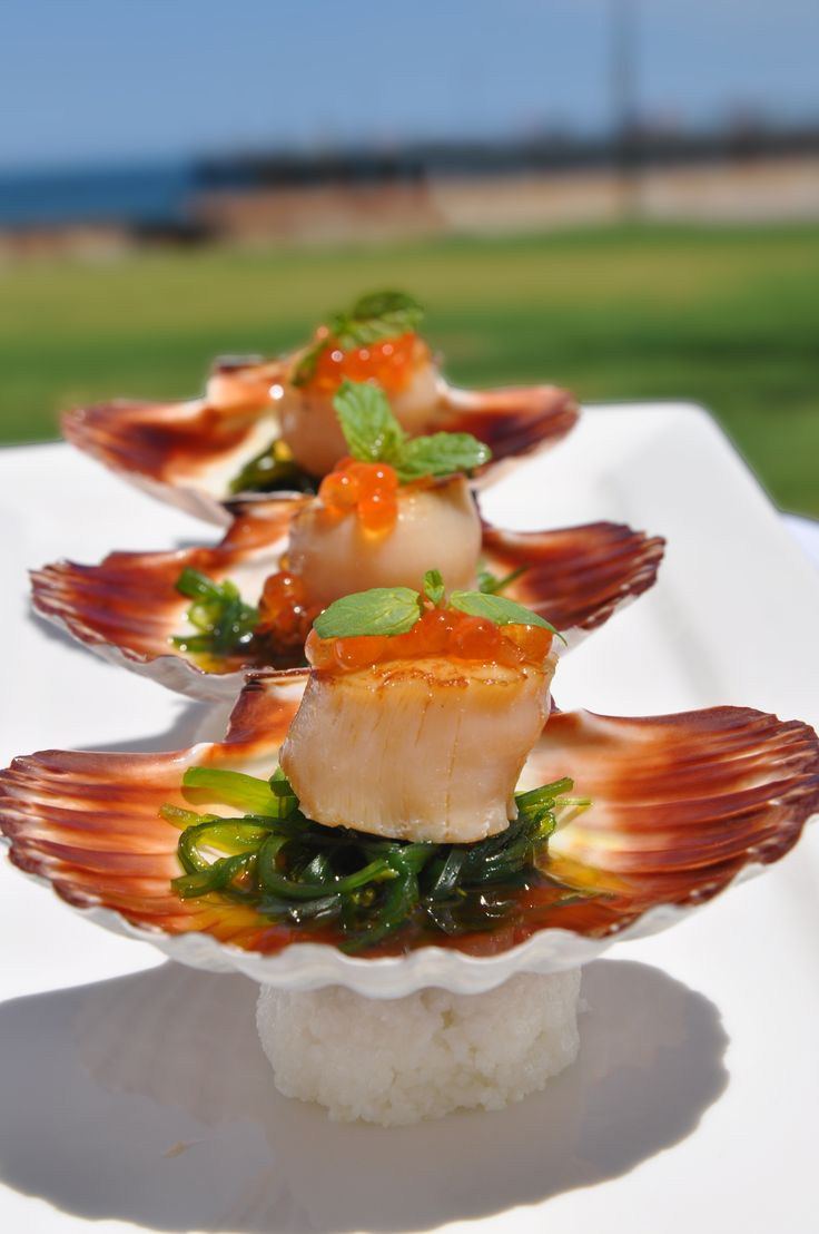 Scallops by the beach at Glenelg
