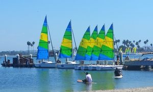 Groupon - $ 30 for a 30-Minute Sailing Lesson and a 60-Minute Sailboat Rental at Resort Watersports