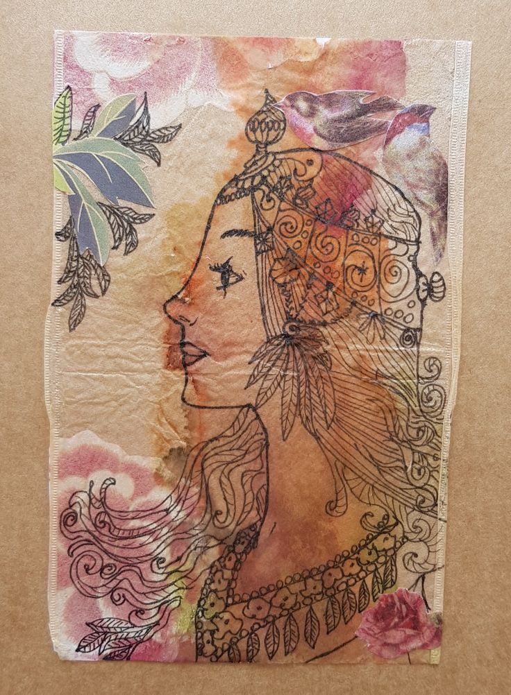 Tea bag art & collage By lorena carreño