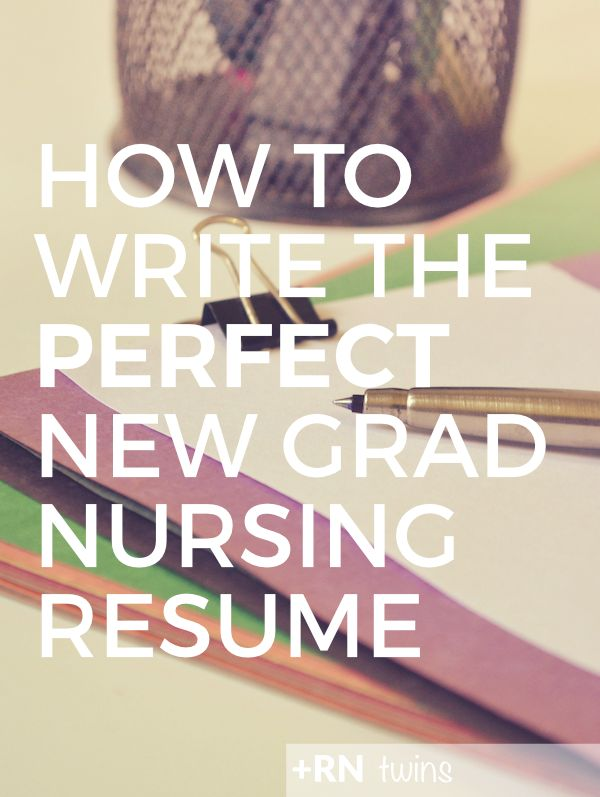 click through to find out how to write the perfect new grad nursing resume and stand